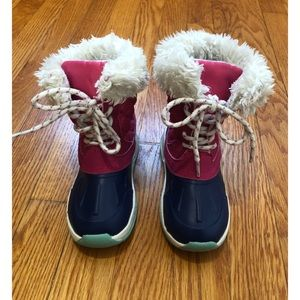 Carter's Toddler Faux Fur Snow Boot Shoe pink 9